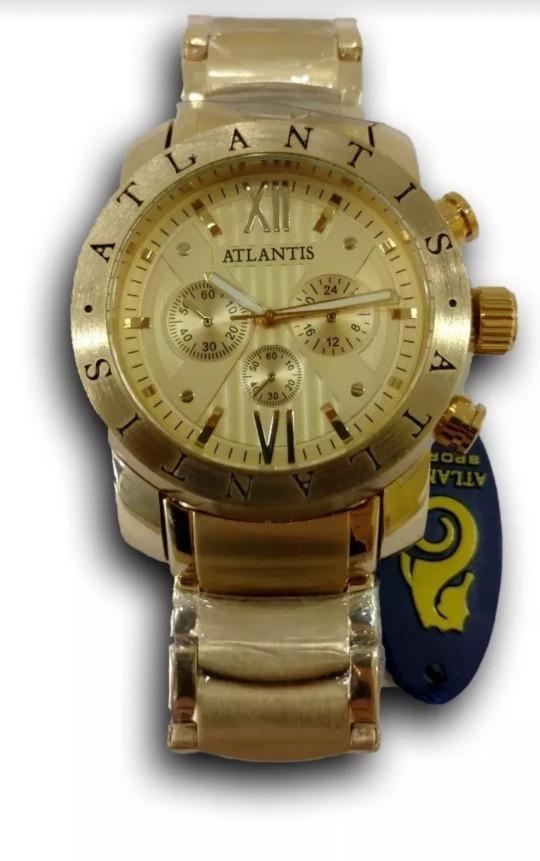 a3428b7ae94 Relógio Atlantis Original Estilo Bvlgari Garantia 12× Frete - R  129 ...