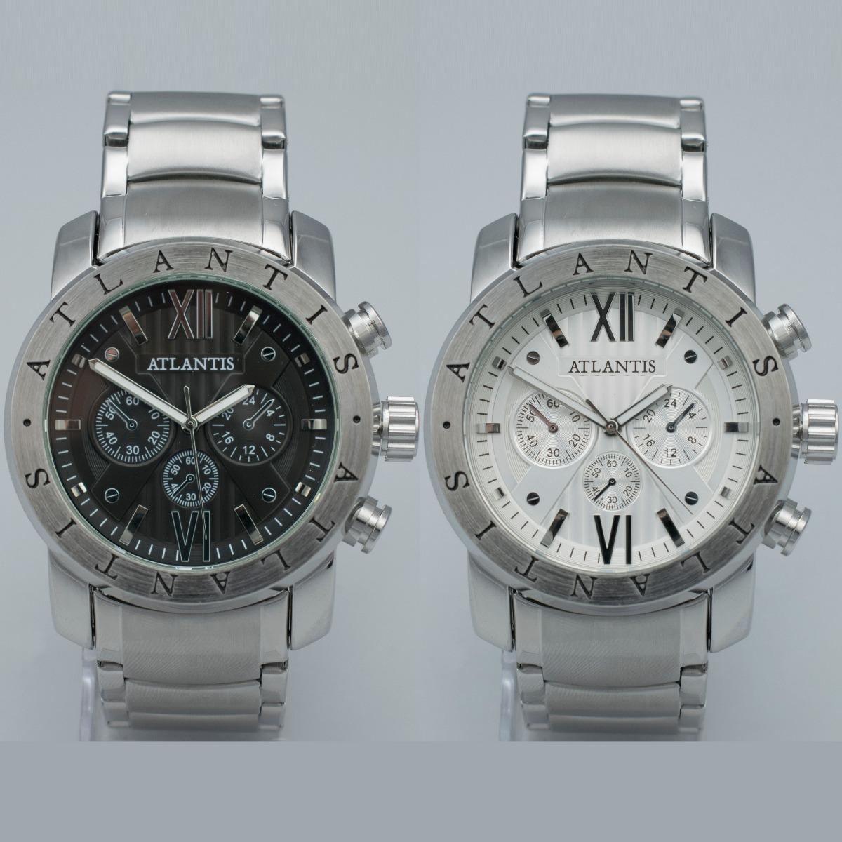 bc35f48b49d relógio atlantis original masculino aço homem prata elite. Carregando zoom.