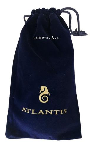 relógio atlantis original masculino pulseira aço calendári