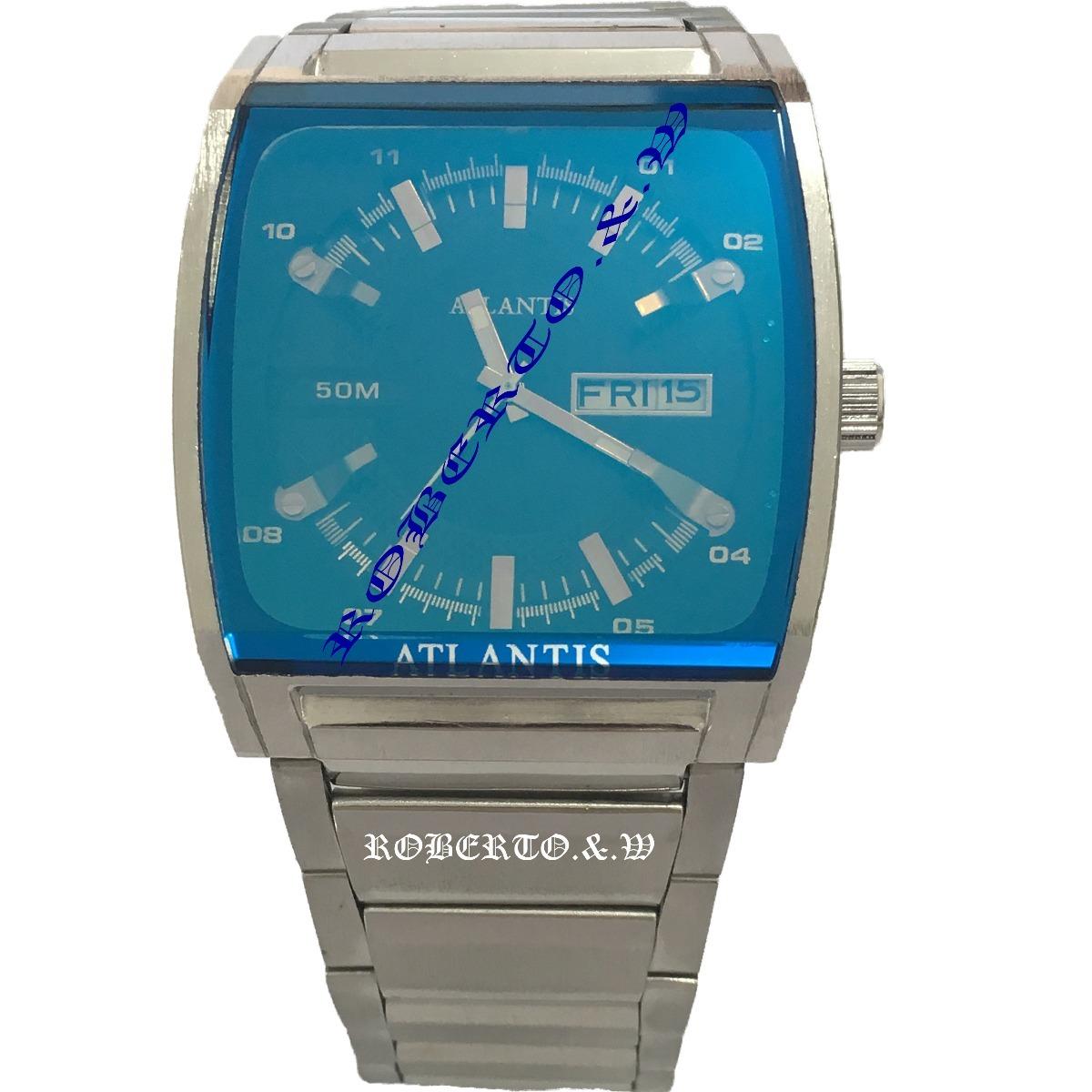 9566b6d1844 Relógio Atlantis Original Masculino Pulseira De Aço - R  148