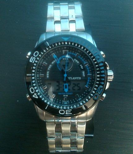 relógio atlantis original na caixa a prova dágua 50 m (atm)