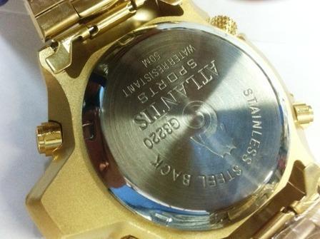 a7ab74351d1 Relogio Atlantis Original Serie Ouro Aqualand Gold  citzen - R  109 ...