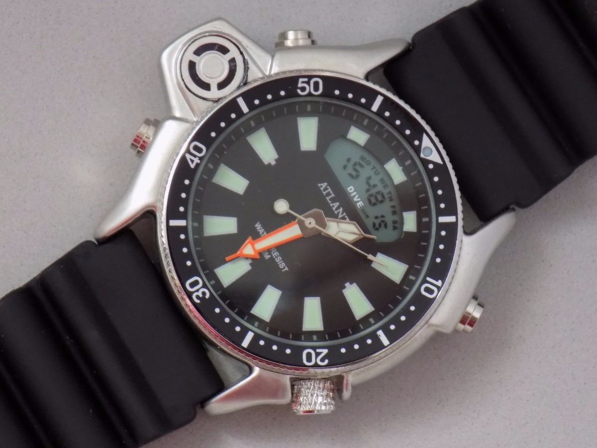 ec6514f6107 Carregando zoom... atlantis puls. relógio. Carregando zoom... relógio  atlantis aqualand original mod 3220 puls. borracha