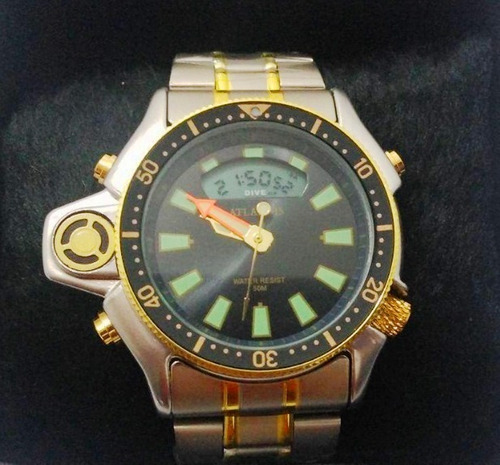 relogio atlantis serie ouro aqualand aço g3220 citizen