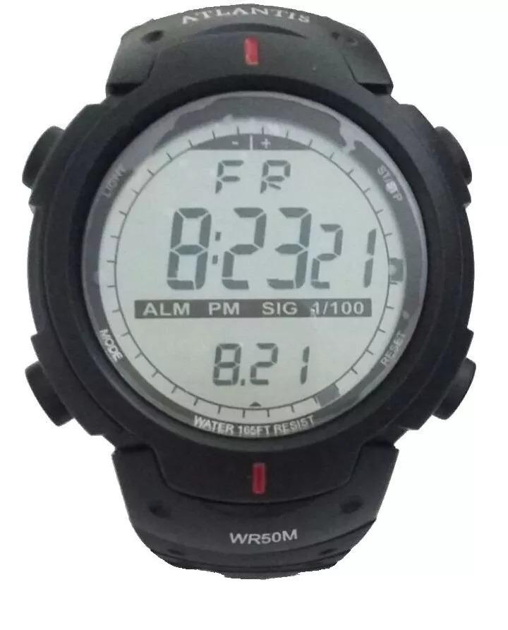 cc25b98dec7 relógio atlantis sport digital promoção 7330g a prova d água. Carregando  zoom.
