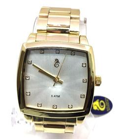 1cdc14df89 Relogio Atlantis Dourado Fundo Branco - Relógios De Pulso no Mercado ...