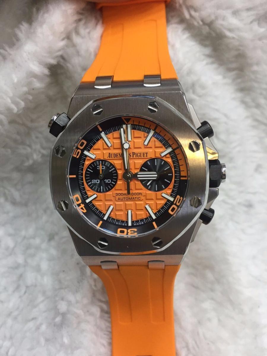 be0a044a179 Relógio Audemars Piguet Offshore Laranja - R  649