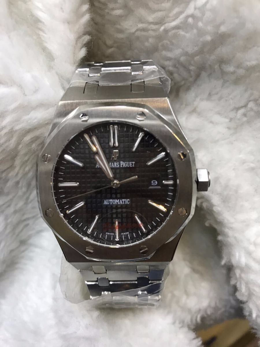 e26e41eafee Relógio Audemars Piguet Automatico Aço Fundo Preto + Brinde - R  649 ...