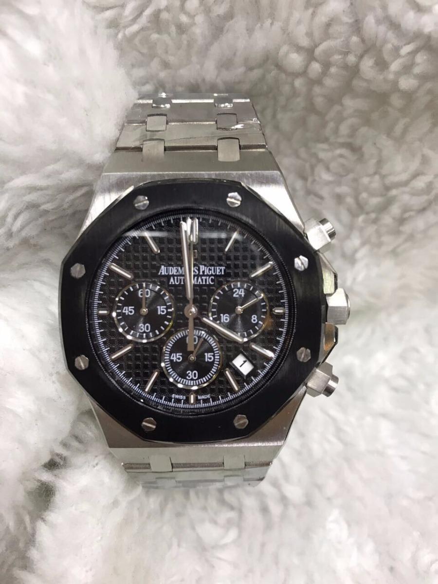 0a2ca77d9cd Relógio Audemars Piguet Automatico Aço Fundo Preto + Brinde - R  699 ...