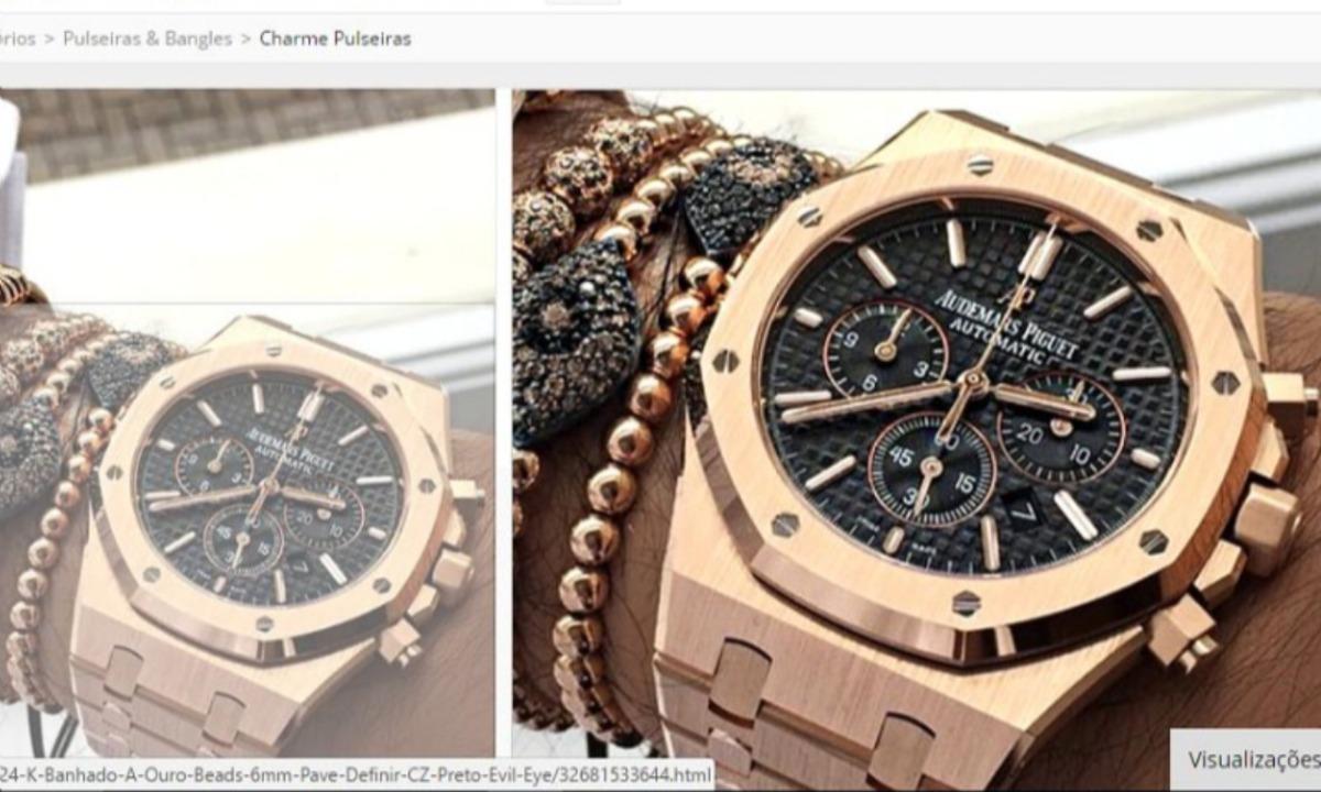 4218ca57590 relógio audemars piguet masculino dourado com garantia. Carregando zoom.