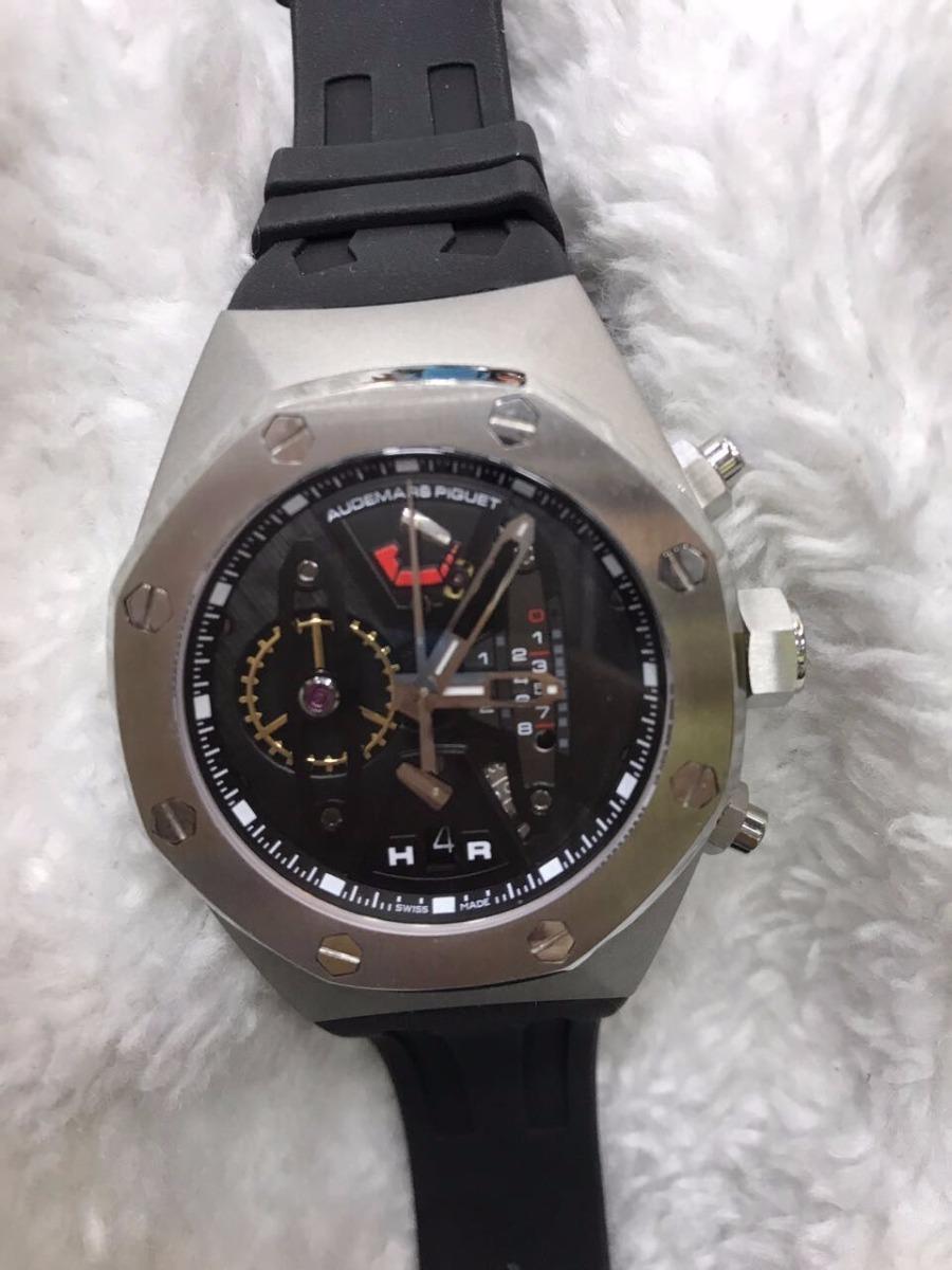 4bfd796e288 relógio audemars piguet royal oak cinza + brinde. Carregando zoom.