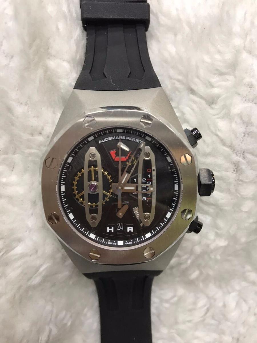 1b4f50d97a6 relógio audemars piguet royal oak cinza preto + brinde. Carregando zoom.