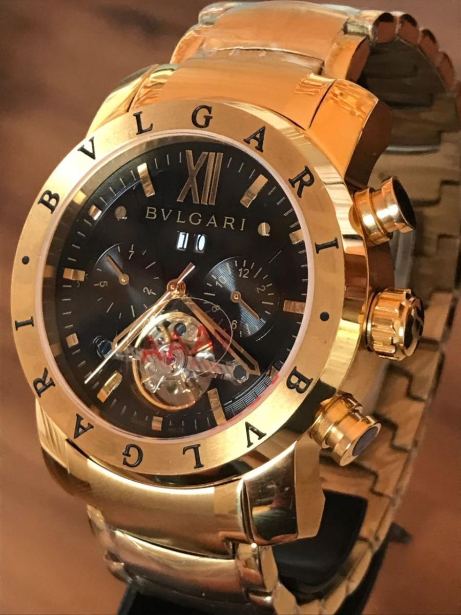 e5699e74012 Relógio Automático Dourado Vidro Safira Tampa De Vidro Top!! - R ...