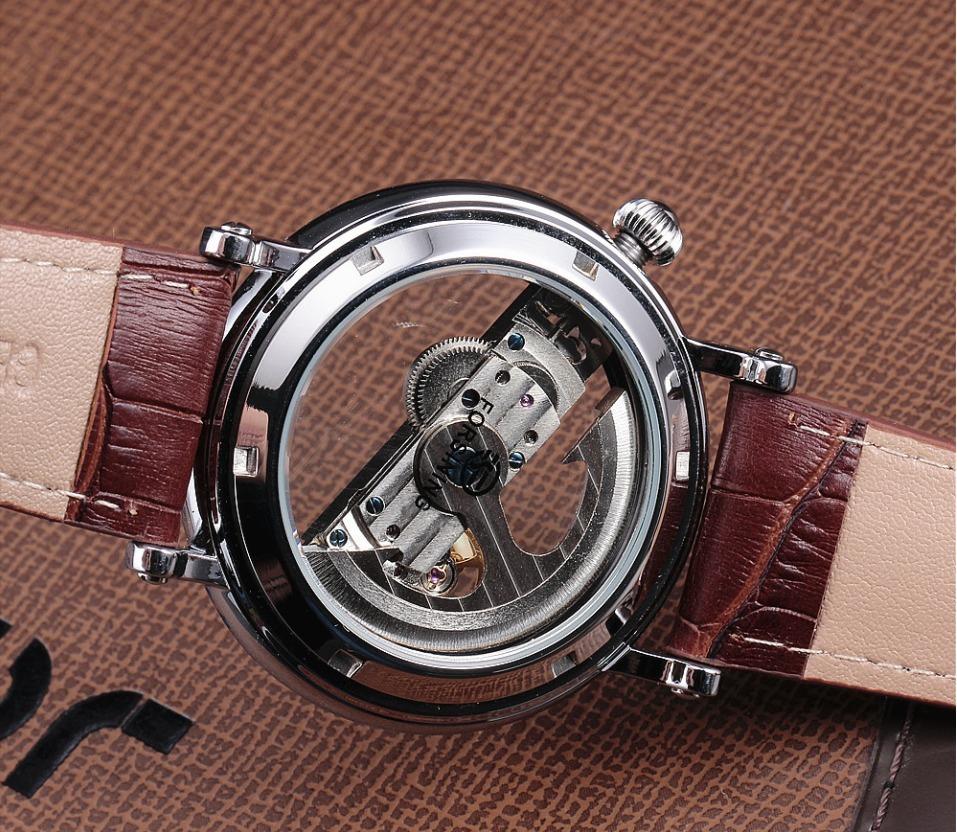f38a9738f6a relógio automático esqueleto forsining transparente luxuoso. Carregando  zoom.