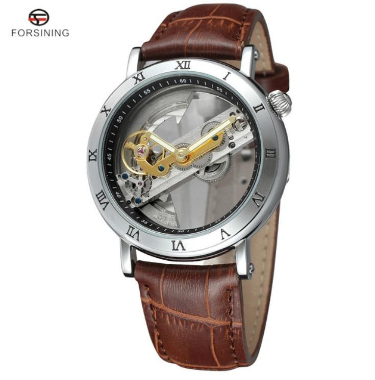 c3f8044b552 Relógio Automático Esqueleto Forsining Transparente Luxuoso - R  289 ...