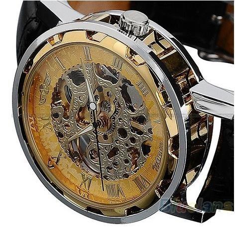 8a222d2265f Relógio Automático Esqueleto Transparente Máquina - R  147