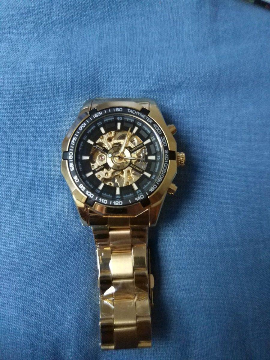 2081ef6e378 Relógio Automático Forsining Tm340 Promoção De Pascoa - R  134