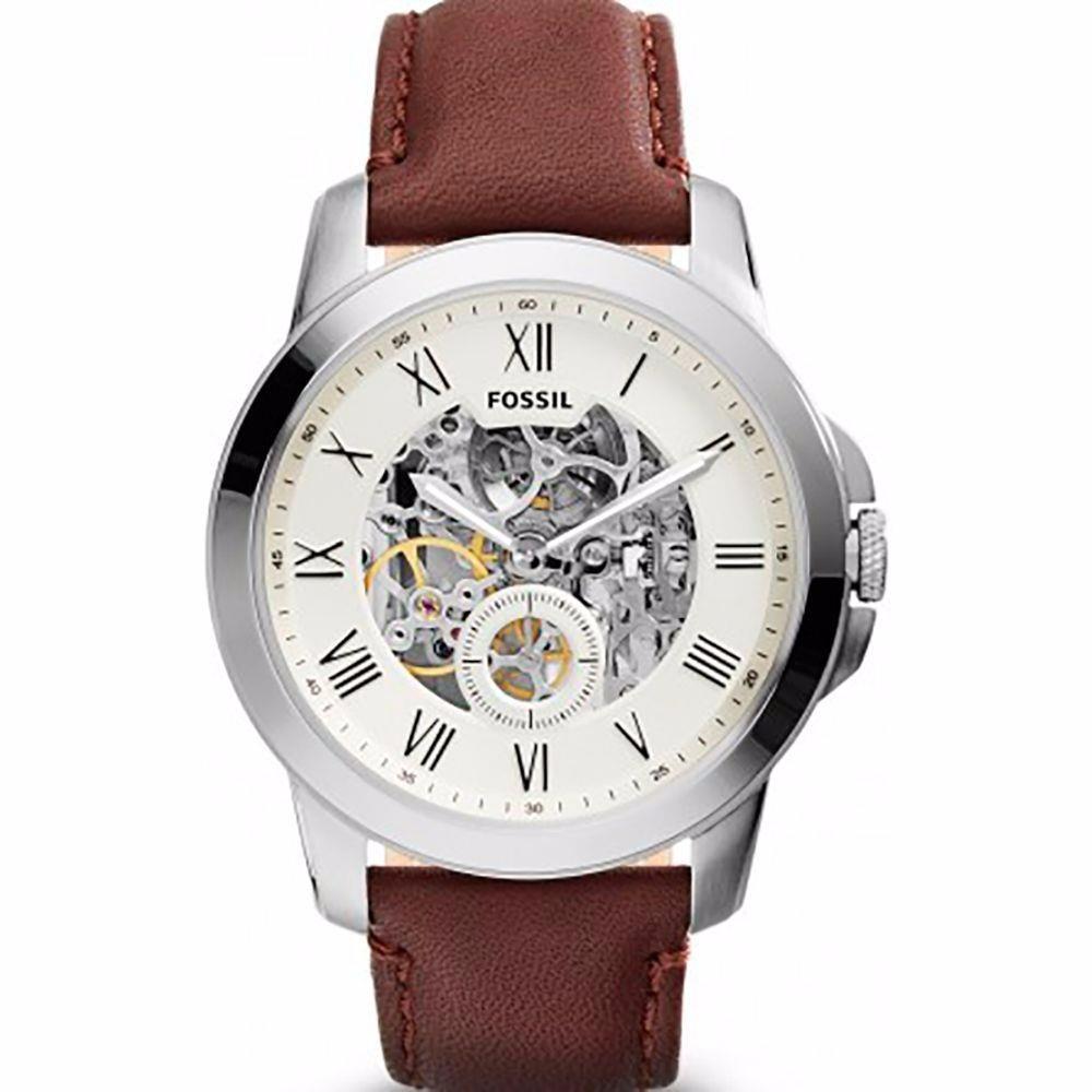 28448ebafd514 relógio automático fossil me3052 esportivo pulseira de couro. Carregando  zoom.