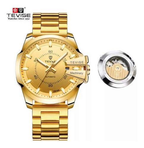 relógio automático masculino original tevise estilo diesel