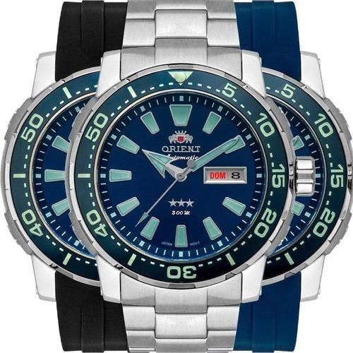 relógio automático orient titanio 2 pulseiras extr- f49tt001