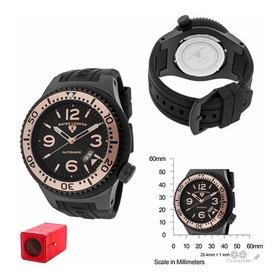 Relógio Automático Swiss Legend Neptune Preto Silicone!