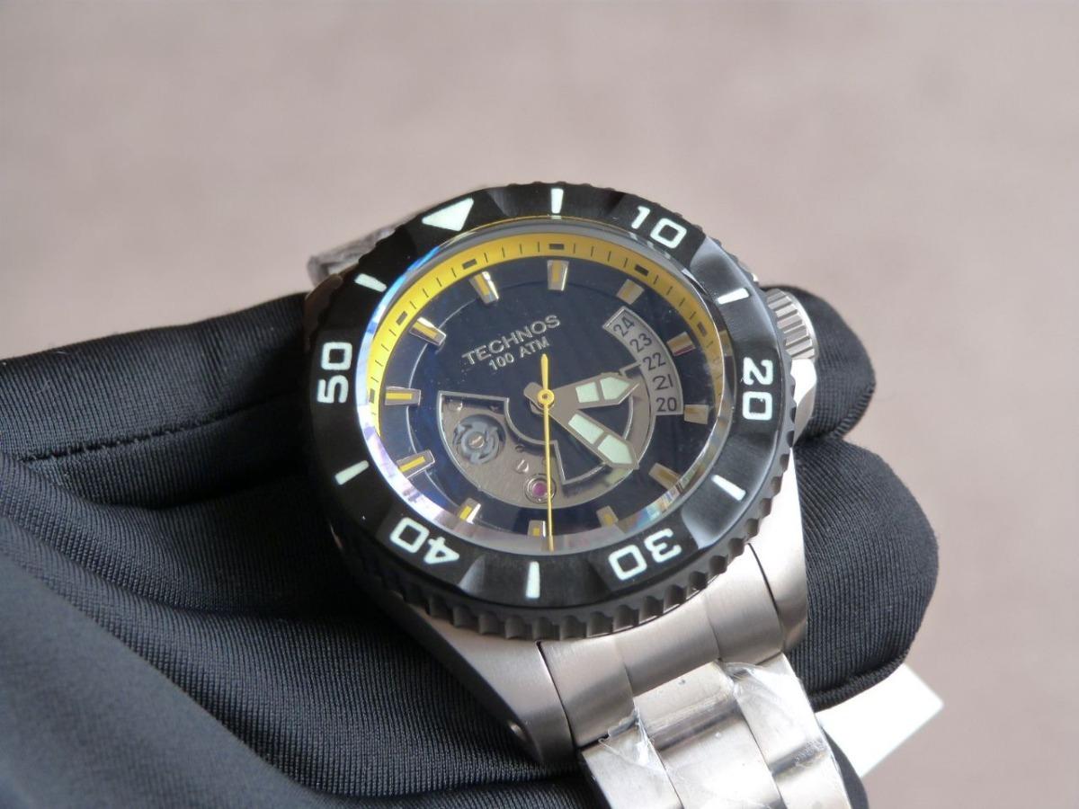 ba97976d36c relógio automático technos acqua 1000 8215ah 5y titânio raro. Carregando  zoom.