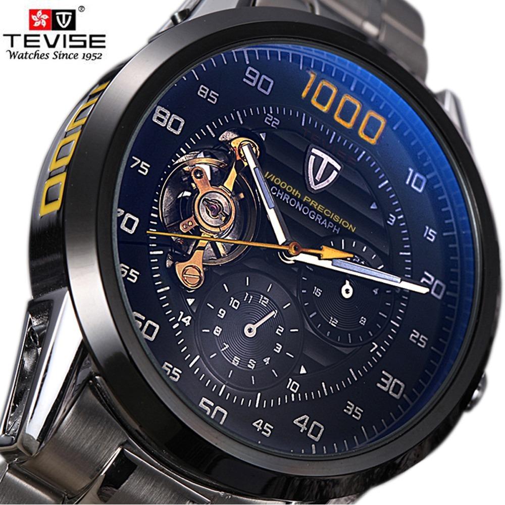 cc0ade54a7e relógio automático tevise luxo original mais caixinha e pano. Carregando  zoom.