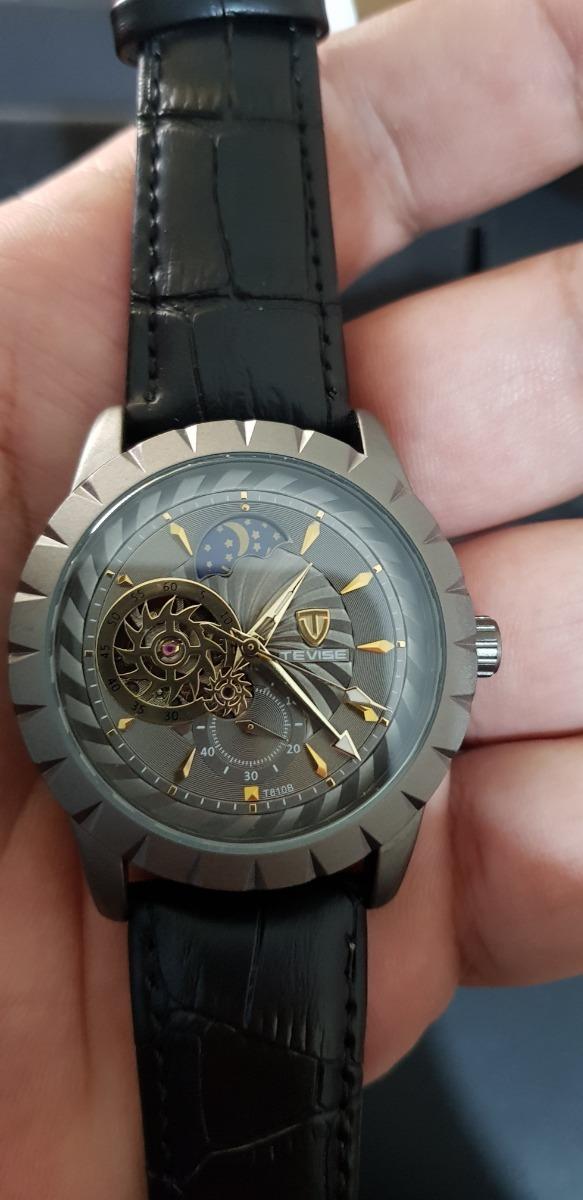 3639be39966 relógio automático tevise thunder lunarium. Carregando zoom.
