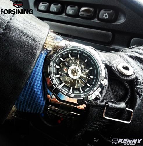 relógio automático winner forshinig aço inoxidável +caixinha