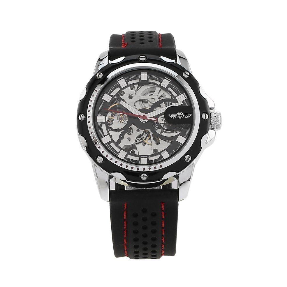 f02850002e6 relógio automático winner pulseira de silicone original. Carregando zoom.