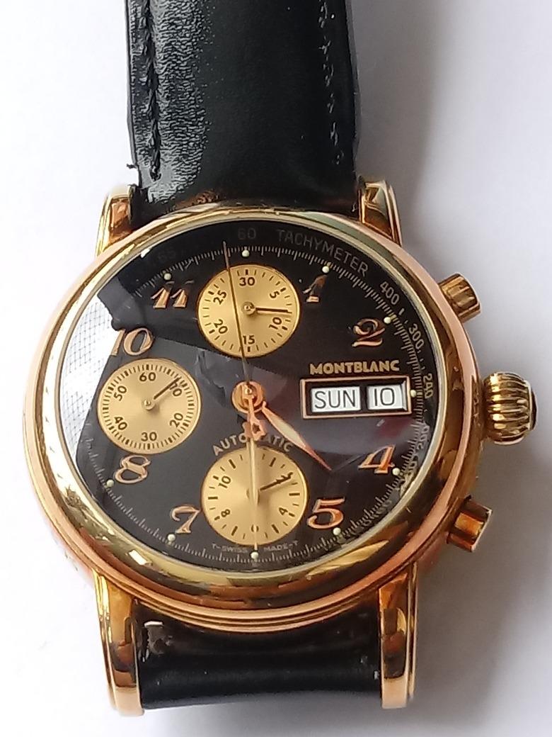 90369a02c3d relógio automátuco montblanc 4810 star meisterstruck em ouro. Carregando  zoom.