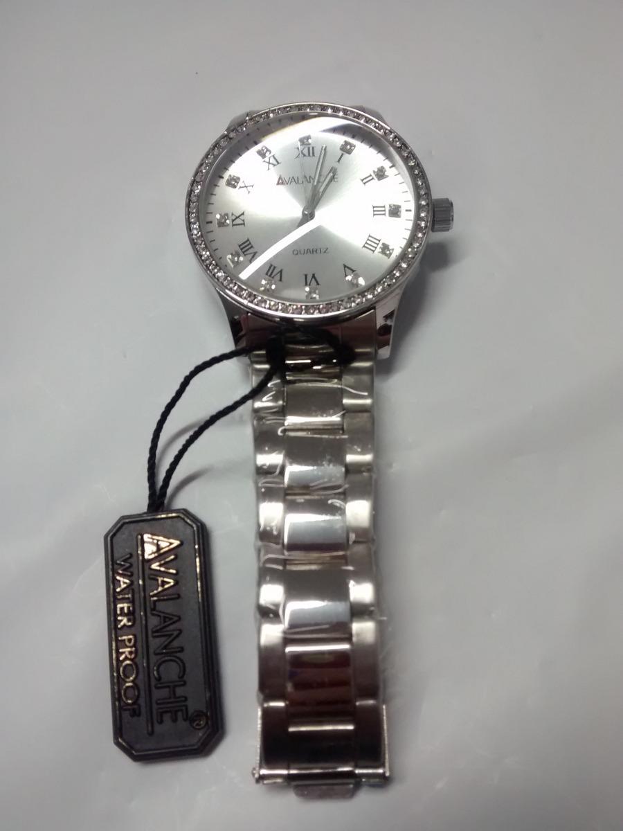414f014cdde Relógio Avalanche Prata Com Pedras Crazzy Store - R  49