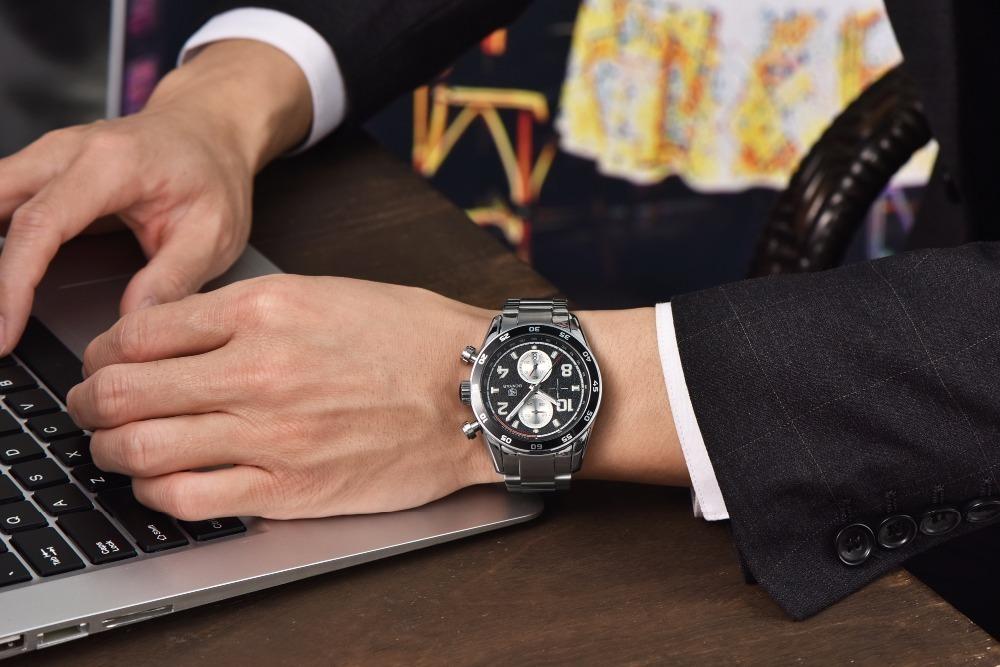 Relógio Aviador Benyar Aço Inox Chronograph By5126m - R  277,47 em ... b7ddff74bb