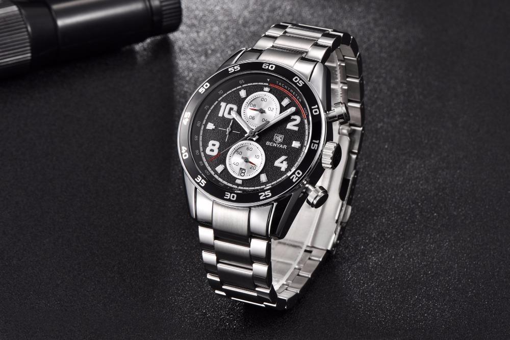 Relógio Aviador Exclusive Benyar Inox Chronograph By5126m - R  249,00 em  Mercado Livre d160f7d97e