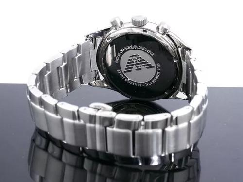 relógio b2017603  emporio armani ar5860 prata azul original