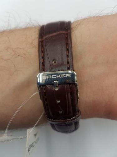 relógio backer masculino