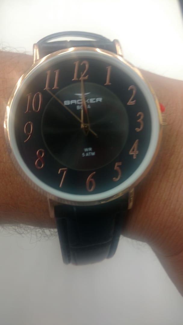 d766654101e relógio backer masculino slim 10816112m pr original e barato · relógio  backer masculino. Carregando zoom.