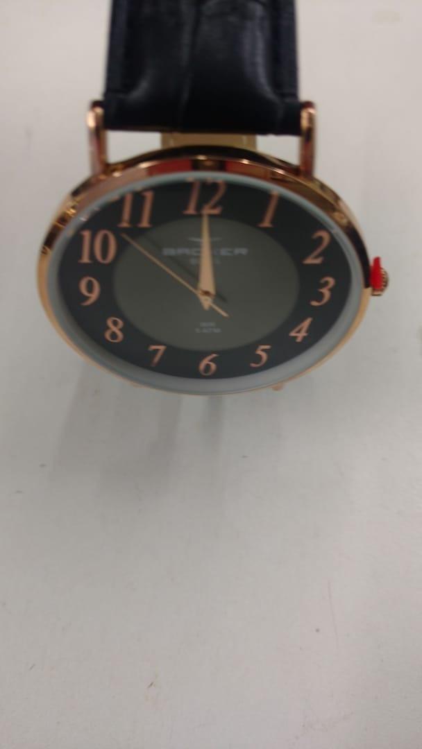 ce2abfe312a relógio backer masculino slim 10816112m pr original e barato. Carregando  zoom.