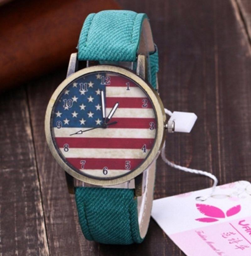 074927ea426 relógio bandeira americana estados unidos jeans + carteira. Carregando zoom.
