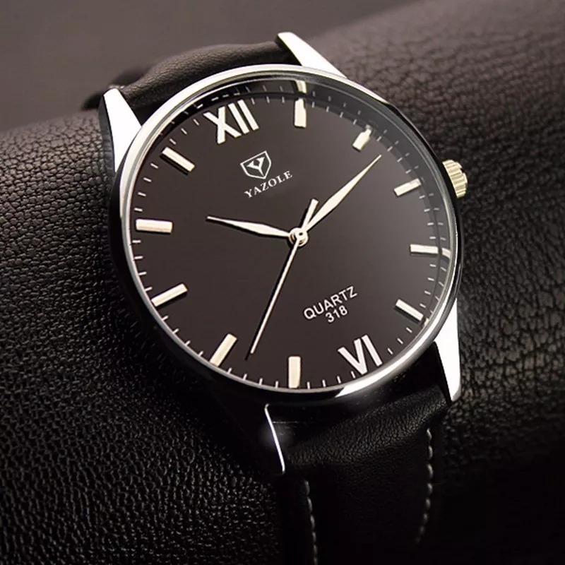 a249bcbcc78 relógio barato analógico feminino masculino yazole 318 preto. Carregando  zoom.