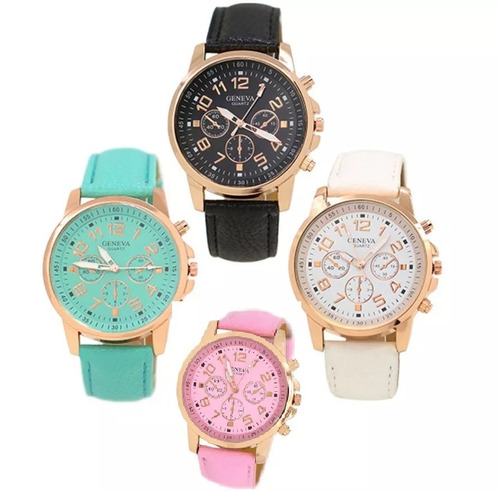 6204264ac58 Relógio Barato Feminino Geneva Social Kit 10 Pçs Revenda - R  184
