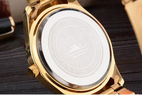 9bb1924fe38 Relógio Barato Luxo Dourado Com Garantia Original + Brinde - R  129 ...