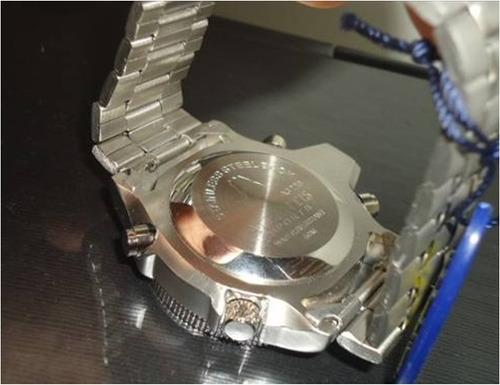 relógio  barato série prata em aço super promoção