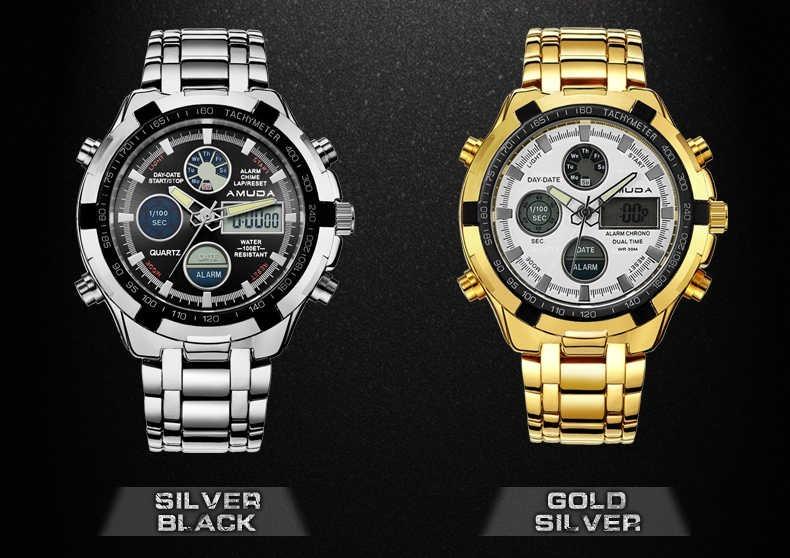4688b7b322c Relógio Barato Top Ouro Dos Homens A Muda De Luxo + Brinde - R  169 ...