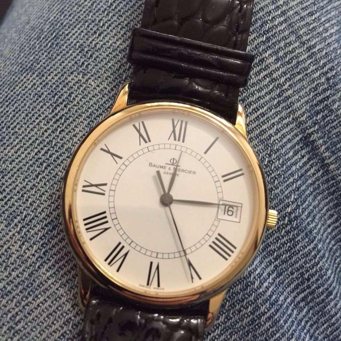 54b219f5867 relógio baume mercier em ouro semi novo original garantia. Carregando zoom.