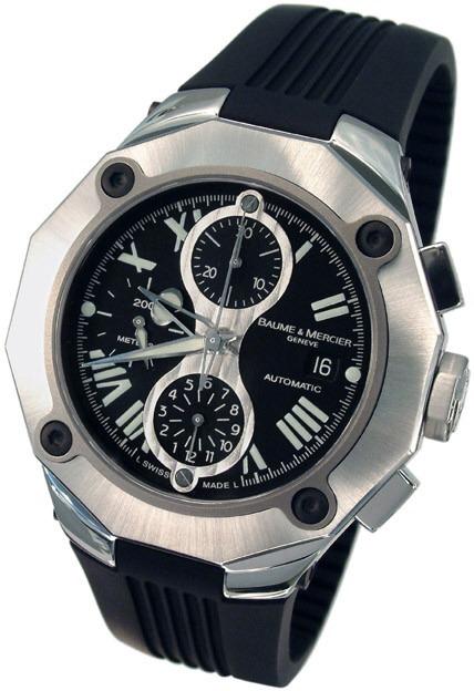 d1ecee043e1 Relógio Baume   Mercier Riviera 65605 Chrono Xl - R  7.699