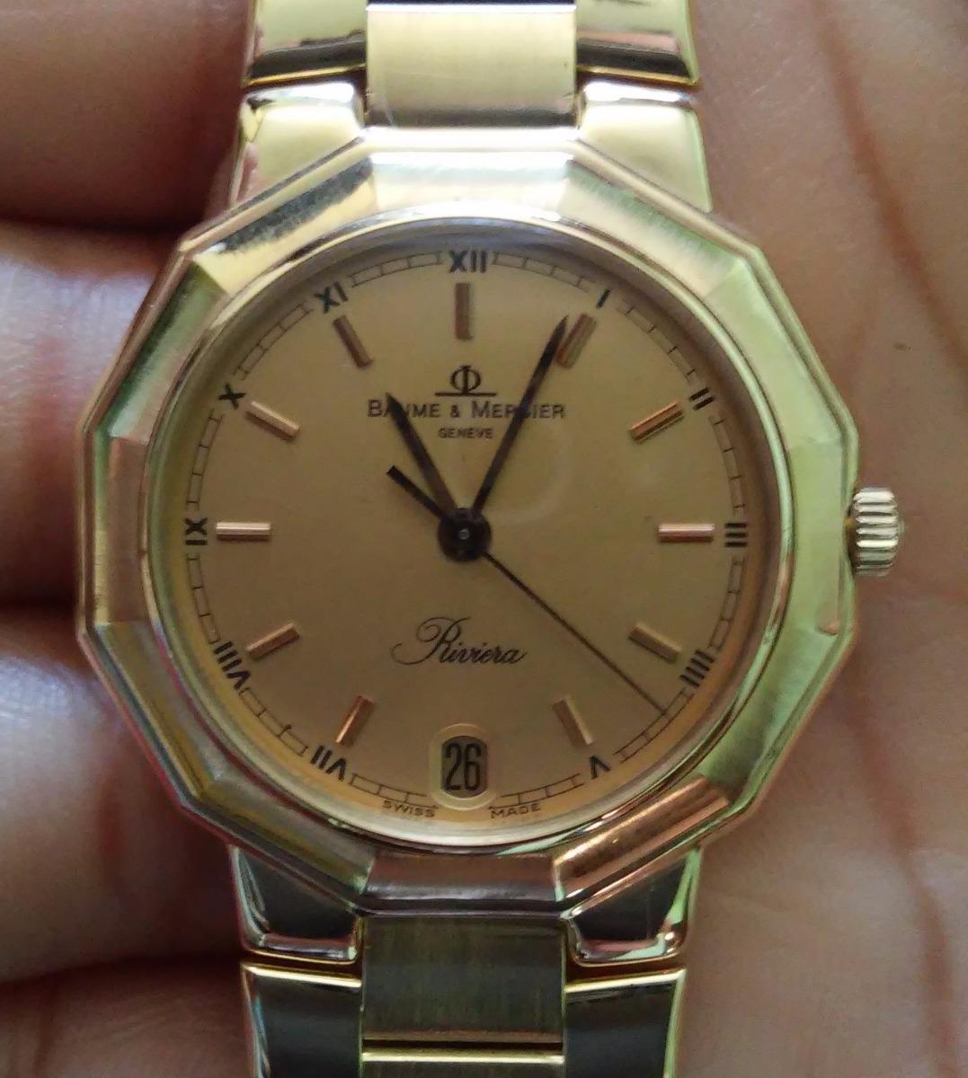 5b3891038f0 relógio baume   mercier riviera todo de ouro 18k unisex. Carregando zoom.