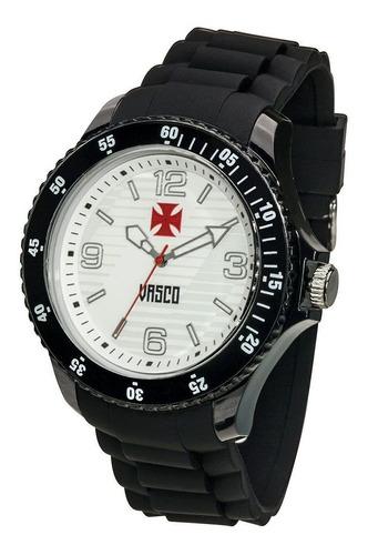 relógio bel watch vasco cruz de malta preto e branco