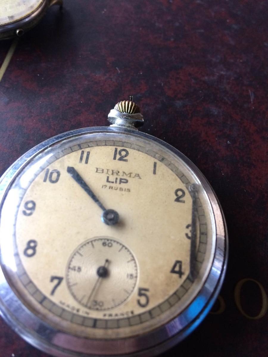 d4affc2e2a2 Relógio Birma Lip France De Bolso ( Restauro) 017 - R  350