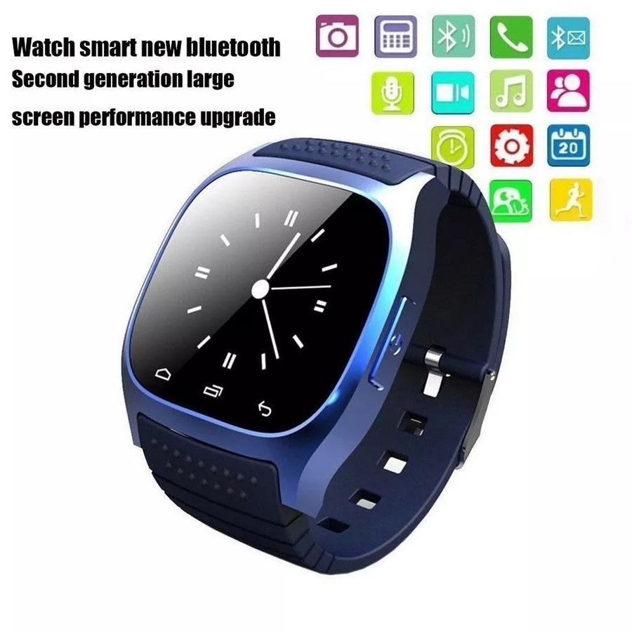 17757df7969 relógio bluetooth smart watch m26 samsung sony note. Carregando zoom.